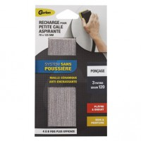 Lot de 3 feuilles abrasives gerlon lour1m, 70x125 mm grains 120