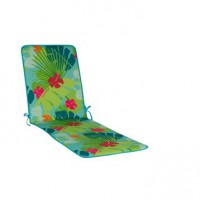 Coussin de bain de soleil multicolore jungle