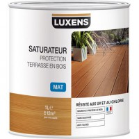 Saturateur luxens saturateur protection terrasse en bois 1 l, teck