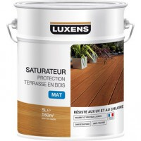 Saturateur luxens protection terrasse bois 5 l, naturel