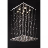 Suspension gu10 baroque victoria cristal d'egypte transparent 7x43w sampa helios