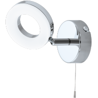 Applique eglo - gonaro - applique led de salle de bain chrome Ø8cm