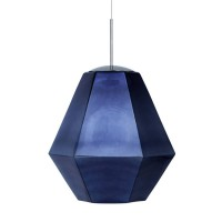 Suspension tom dixon - cut tall - suspension miroir fumé Ø50cm