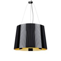 Suspension kartell - ge' - suspension noir/or Ø37cm