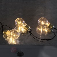 Guirlande led glow battery à cinq ampoules