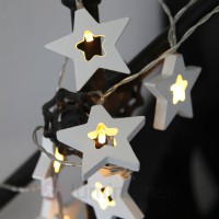 Guirlande lumineuse magique led wooden stars