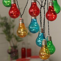 Guirlande led party balls extérieur - multicolore