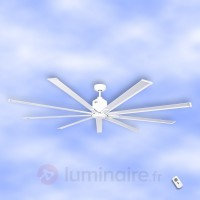 Ventilateur de plafond big smooth eco blanc 220 cm