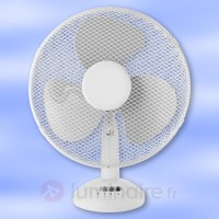 Ventilateur de table stratos blanc 40 cm