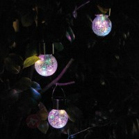 Lot de trois suspensions solaires led color ball