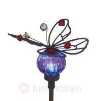 Lampe solaire naturelle butterfly