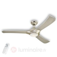 Techno - ventilateur de plafond led titane