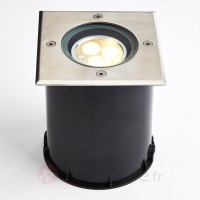Spot encastrable dans le sol led, inclinable, ip67