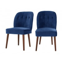 2 x margot dining chairs, electric blue velvet
