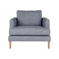 Kotka, grand fauteuil, bleu denim chiné