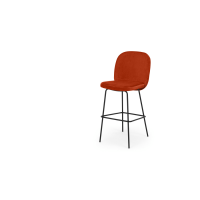 Safia, tabouret de bar, orange flamme