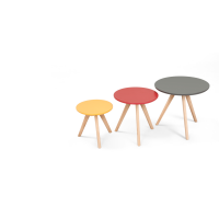 3 x orion, tables d'appoint, multicolore