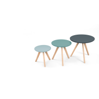 3 x orion, tables d'appoint, bleu