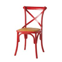 Chaise bistrot rouge tradition