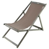 Chaise longue / chilienne pliable taupe panama