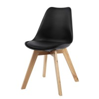 Chaise scandinave noire ice