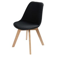 Chaise style scandinave noire ice