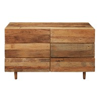 Commode double 6 tiroirs en bois recyclés tennessee