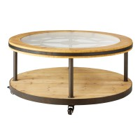 Table basse ronde horloge burton