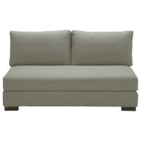Banquette modulable 2 places gris clair terence