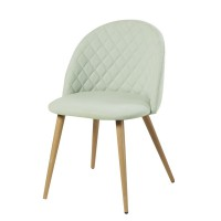 Chaise vintage vert clair mauricette