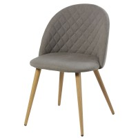 Chaise vintage grise mauricette