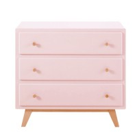 Commode compatible plan à langer 3 tiroirs rose sweet 2