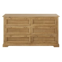 Commode double 6 tiroirs persiennes