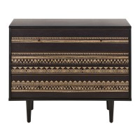 Commode 3 tiroirs bicolore motifs graphiques mayana