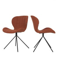 2 chaises design orange