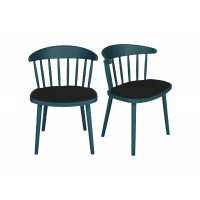 Lot 2 chaises design bleu