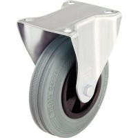 Roulette fixe platine gris moyeulissef=100 kgd=80mm,