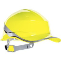 Casque de protection diamond v jaune forme casquette baseball