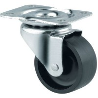 Roulette pivotante en nylon force:120 kg h ht:83 mm