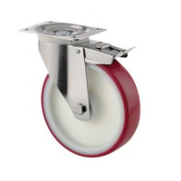 Roulette pivotante en nylon force:200 kg h ht:155 mm,