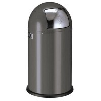 Poubelle push-boy 50l graphite