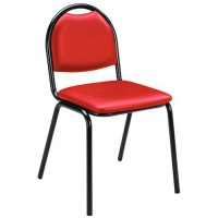 Chaise molly vinyle rouge