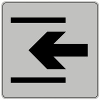 Pictogramme iso 7001 symbole entree 90x90 mm