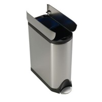 Poubelle butterfly recycler 40l inox mat
