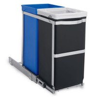 Poubelle pull-out recycler 35l