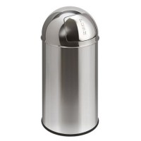 Poubelle push can 40l inox