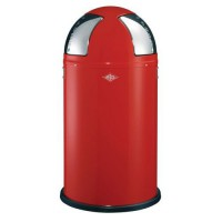 Poubelle push two 2x25l rouge,