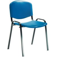 Chaise 4 pieds fancy polypro bleue