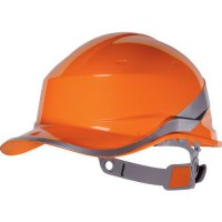Casque de protection chantier diamondv orange