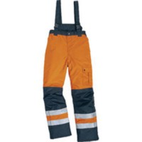 Pantalon fargo orange/bleu m